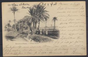 Ansichtskarte Algerien Biskra Constantine nach Berlin Algeria picture postcard