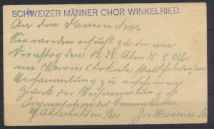 USA Ganzsache Präsident McKinley Schweizer Männer Chor Winkelried Schweiz