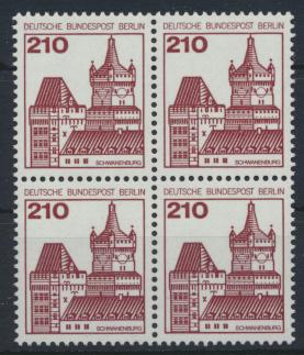 Berlin Burgen & Schlösser 589 210 Pfg. Viererblock Luxus postfrisch 0