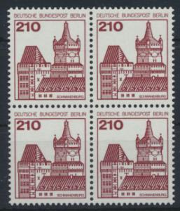 Berlin Burgen & Schlösser 589 210 Pfg. Viererblock Luxus postfrisch