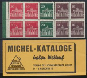 Berlin Zusammendruck Heftchenblatt Brandenburger 13 +kpl. Deckel lose postfrisch