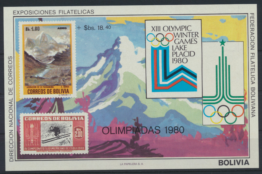 Bolivien Flugpost Block 89 Olympia Sport Moskau Bolivia Olympics Sports Moscow 0