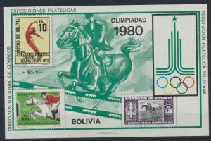 Bolivien Flugpost Block 88 Olympia Sport Moskau Bolivia Olympics Sports Moscow