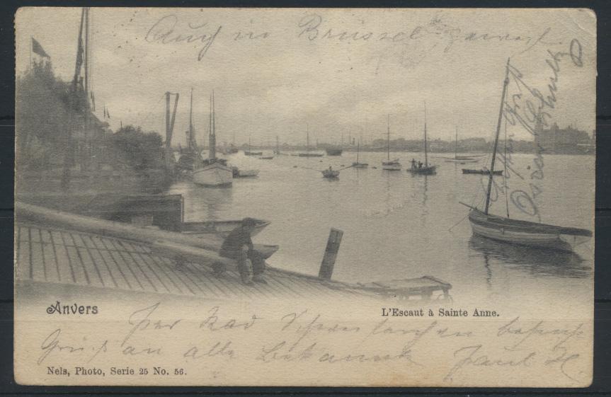Belgien Ansichtskarte Anvers Schiffe Schifffahrt Wilhelmshaver weiter nach Kiel 0