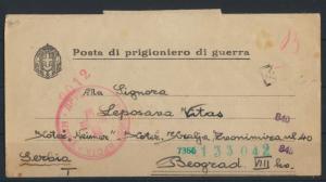 Italien Kriegsgefangenenpost Posta di prigioniero di guerra Belgrad Serbien