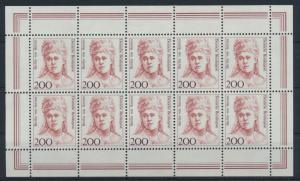 Bund 1498 Kleinbogen Zehnerbogen Frauen 200 Pfg. Luxus postfrisch Kat.Wert 28,00