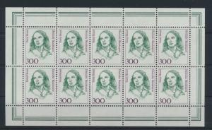 Bund 1433 Kleinbogen Zehnerbogen Frauen 300 Pfg. Luxus postfrisch Kat.Wert 32,00
