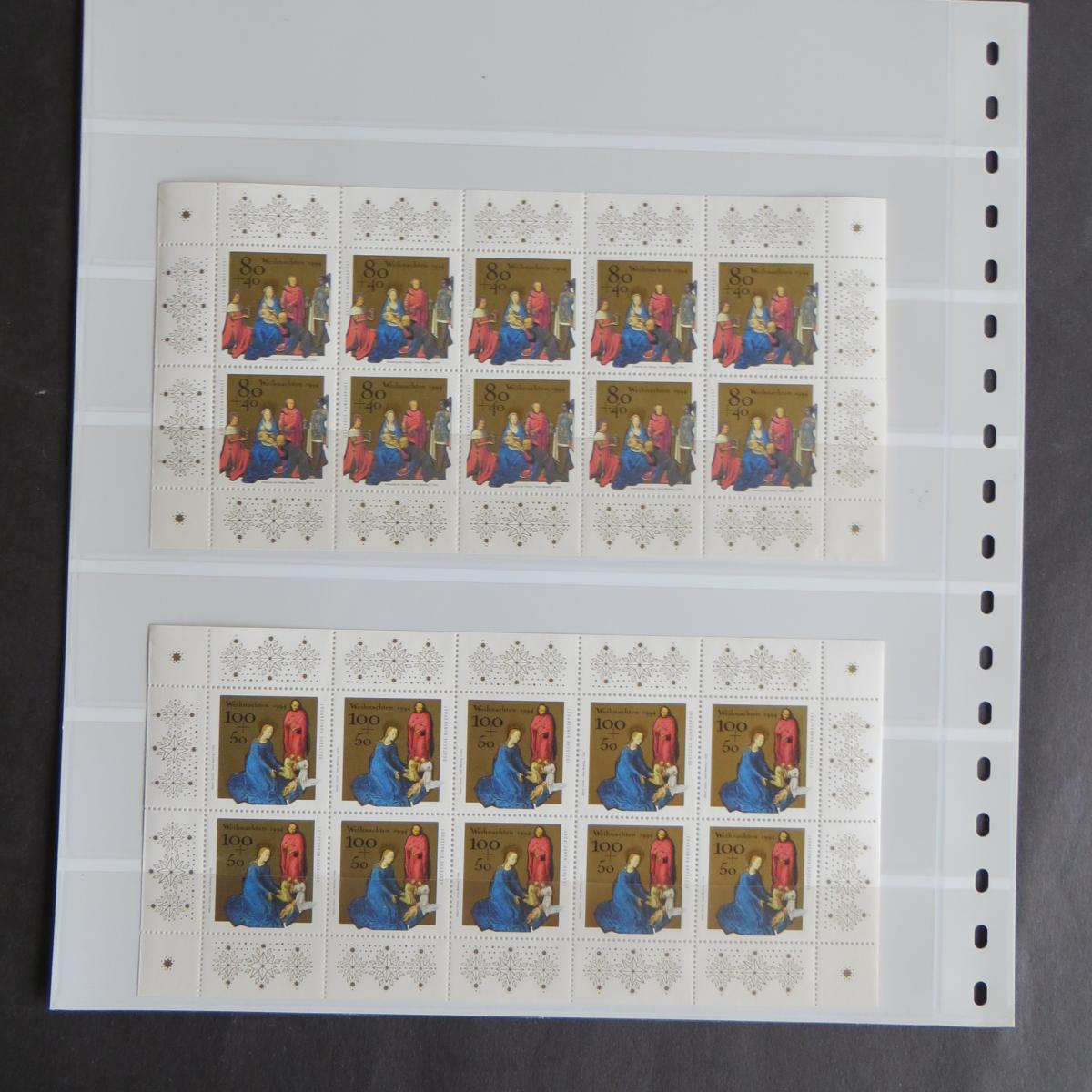 Bund Kleinbogen Zehnerbogen 1770-1771 Wehnachten Luxus postfrisch MNH Kat. 40,00 0