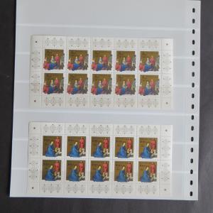 Bund Kleinbogen Zehnerbogen 1770-1771 Wehnachten Luxus postfrisch MNH Kat. 40,00