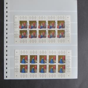 Bund Kleinbogen Zehnerbogen Weihnachten 1770-1 Luxus gestempelt EEST Kat. 45,00