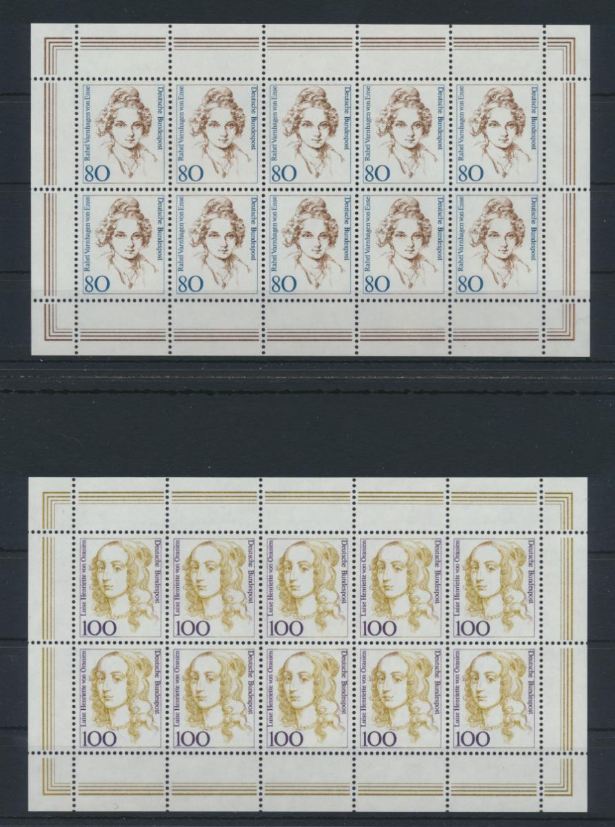 Bund Kleinbogen Zehnerbogen Frauen 1955-1956 Luxus postfrisch MNH Kat. 45,00 0