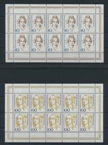 Bund Kleinbogen Zehnerbogen Frauen 1955-1956 Luxus postfrisch MNH Kat. 45,00