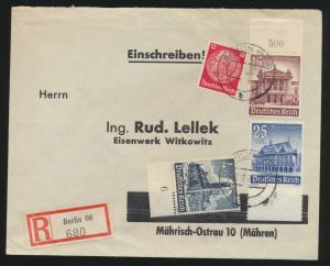 Deutsches Reich R Brief MIF Hindenburg WHW Berlin W6 Mährisch Ostrau 1.12.1940