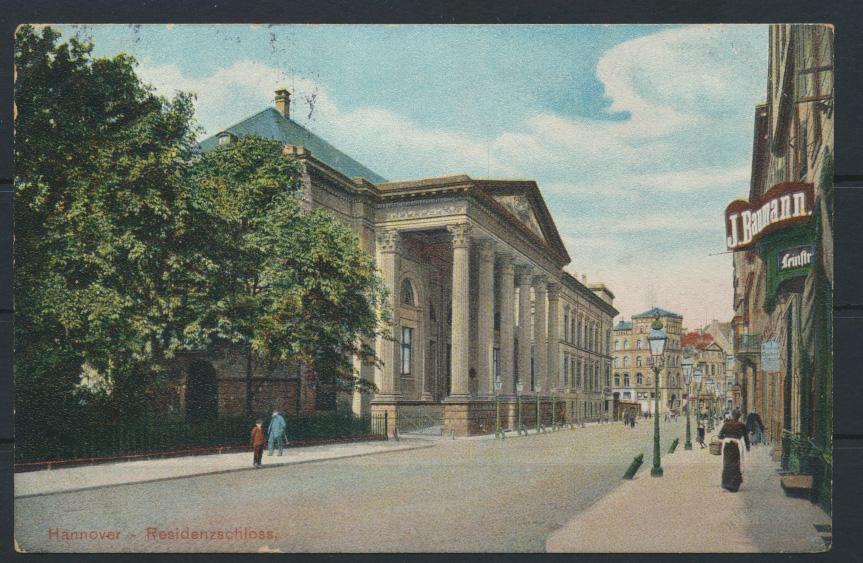 Ansichtskarte Hannover Residenzschloß nach Köln 18.10.1906 0