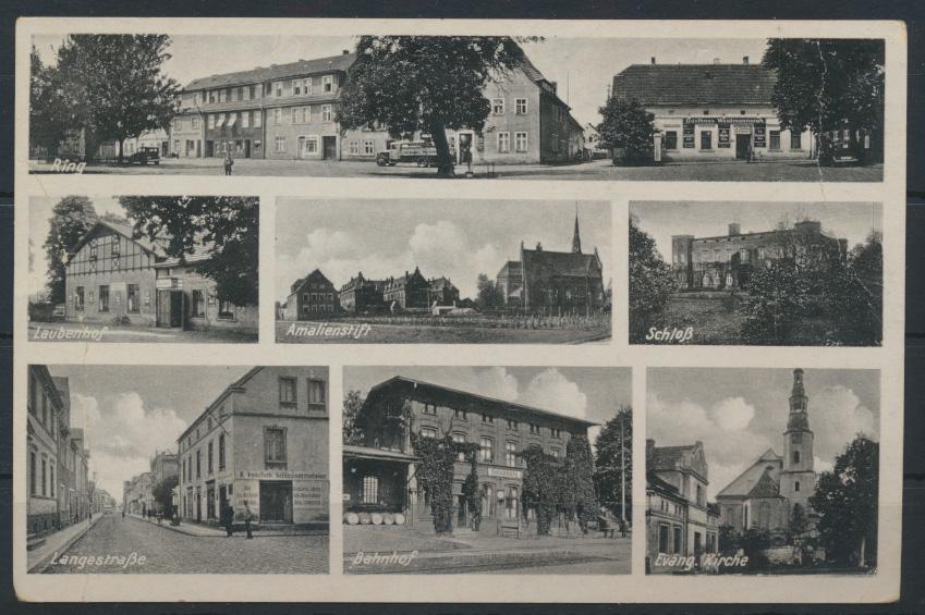 Ansichtskarte Juliusburg Schleswig-Holstein Bahnhof Langestraße Feldpost 1941 0