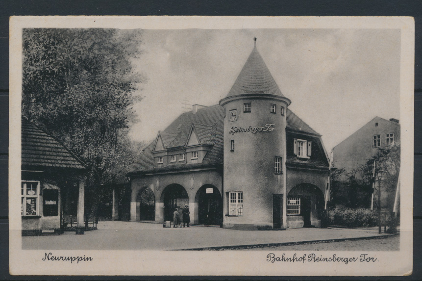 Ansichtskarte Neuruppin Bahnhof Reinsberger Tor  Brandenburg 0