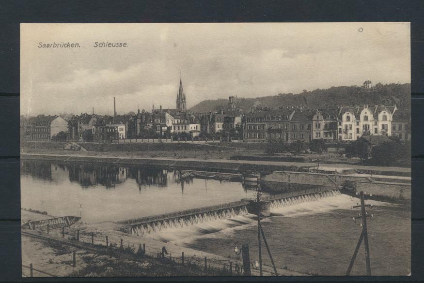 Ansichtskarte Saarbrücken Schleuse Saarland 0