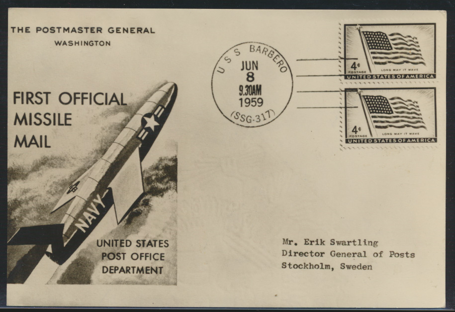 Air mail letter Flugpost Schweden mit Zusammendruck Vignette Zeppelin Ballon  1