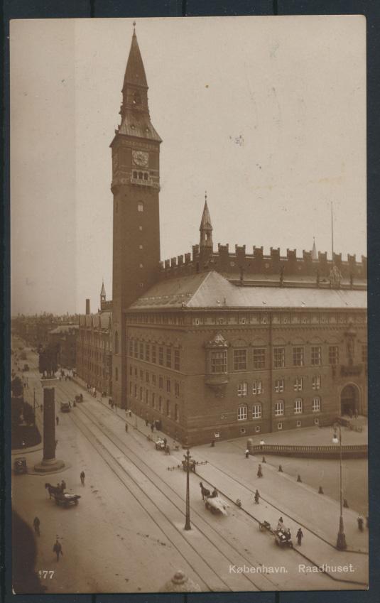 Dänemark Ansichtskarte Kopenhagen nach Berlin Pankow 16.4.1921 1