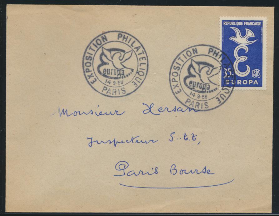 France Frankreich Brief EF Europa Cept SST Exposition Philatelioue Ausstellung 0