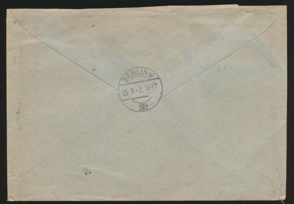 Reich R Brief Feldpost Wehrmeldeamt Berlin Schöneberg Friedenau weitergeleitet 1