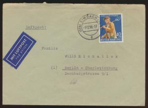 Bund Brief EF 300 Wohlfahrt Landwirtschaft Simbach n. Berlin Charlottenburg