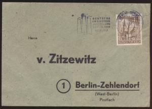 Berlin Brief  EF 4 Pf. Gedächtniskirche Werbest. Industrieausstellung Zehlendorf