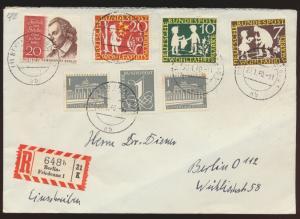 Berlin Bund R Brief MIF Berlin Friedenau nach Berlin 112