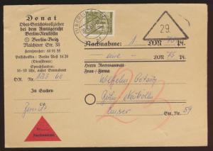 Berlin Nachnahme Brief EF 150 Stadtbilder Berlin Neukölln 20.6.1960