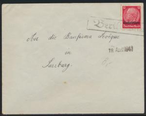 Deutsche Besetzunug II Weltkrieg Aufdruck Lothringen R1 Berthelming Frankreich