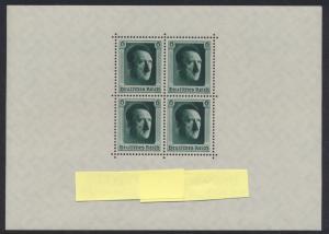 Deutsches Reich Block 7 Luxus postfrisch MNH Kat.-Wert 70,00