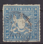 Altdeutschland Württemberg 32 a gestempelt Kat.-Wert 60,00  0