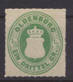 Altdeutschland Oldenburg 15 B ungebraucht Kat.-Wert 40,00