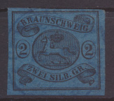 Altdeutschland Braunschweig 7 a Luxus gerandet gestempelt Kat.-Wert 80,00 0
