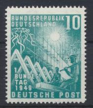 Bund Bundestag Bonn 111 10 Pfg. Luxus postfrisch MNH Kat.-Wert 50,00  0