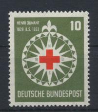 Bund Dunant Rotes Kreuz 164 Luxus postfrisch MNH Kat.-Wert 22,00