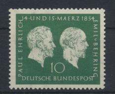 Bund Ehrlich Nobelpreis 197 Luxus postfrisch MNH Kat.-Wert 12,00