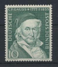 Bund Gauß Astronom Physik 204 Luxus postfrisch MNH Kat.-Wert 6,00