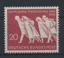 Bund Vertreibung 215 Luxus postfrisch MNH Kat.-Wert 4,50