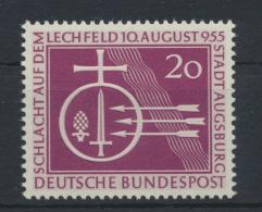 Bund Krieg Schlacht Lechfeld 216 Luxus postfrisch MNH Kat.-Wert 10,00