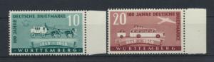 Besetzung Franz. Württemberg Briefmarken 49-50 I postfrisch Kat.-Wert 18,00