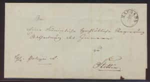 Altdeutschland Naugard Preussen Pommern Vorphila Brief nach Stettin
