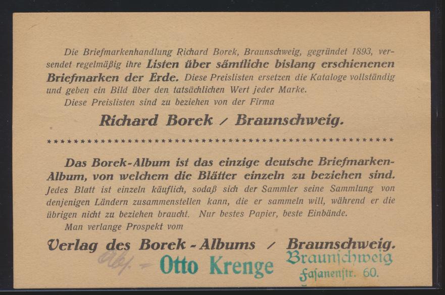 Flugpost airmail Deutsches Reich Karte Berlin Luftpost mit rotem R3 Hannover  1