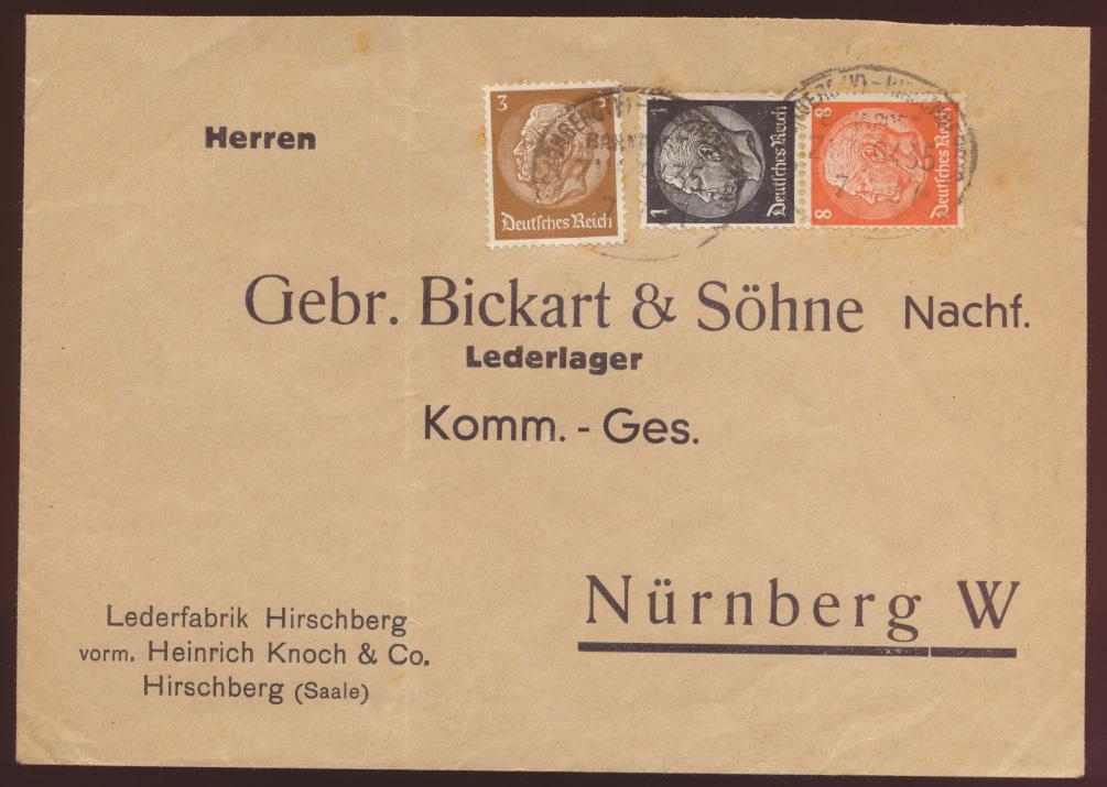 D Reich Brief Zusammendruck Hindenbrug Bahnpost  0