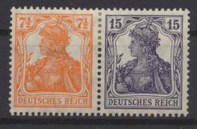 Deutsches Reich Zusammendruck Germania W 11 ungebraucht Kat.-Wert 230,00