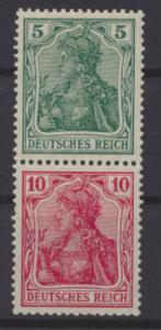 Deutsches Reich Zusammendruck Germania S 4 II ungebraucht Kat.-Wert 42,00