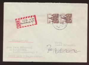 Berlin R Brief MEF 80 Bauwerke Heidelberg Weissenburg FDC 15.12.1964