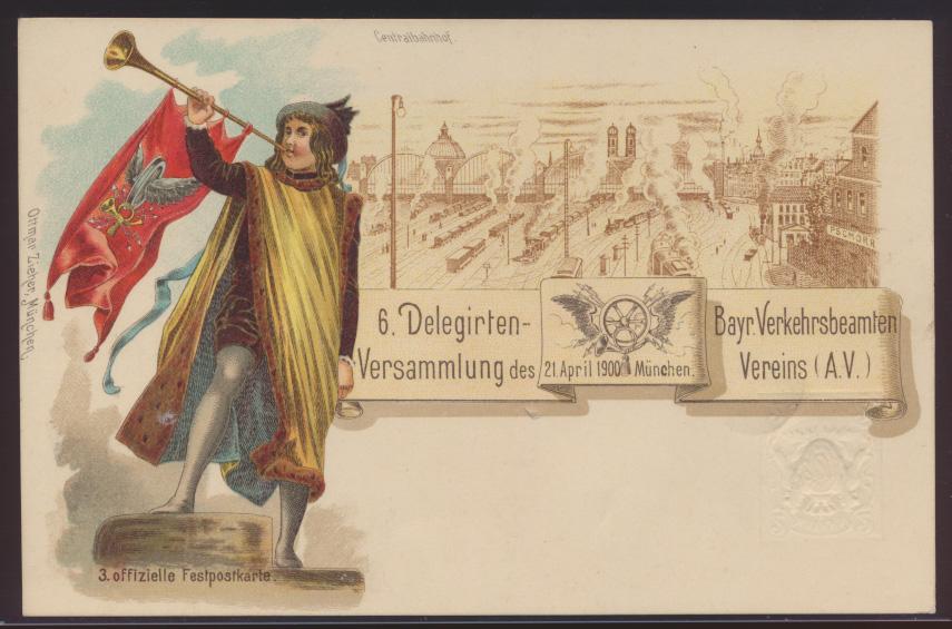 Bayern Privatganzsache München Delegierten Versammlung O. Zieher PP 10 C C1 03 0