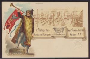Bayern Privatganzsache München Delegierten Versammlung O. Zieher PP 10 C C1 03
