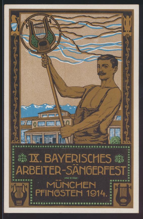 Bayern Privatganzsache München Arbeieter Sängerfest Künstler PP 27 C 123 01 0
